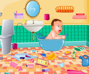game Baby Bathroom Cleanup