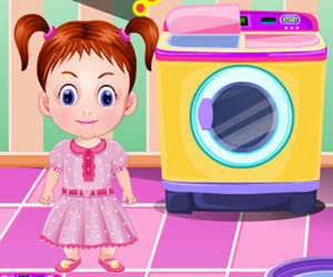 game Baby Emma Washing Clothes