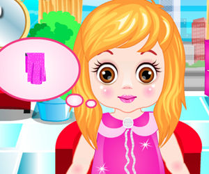 game Baby In Hair Salon