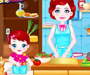 game Baby Lulu Cooking with Mom