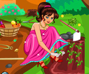 game Barbie Cleaning The Garden