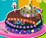 game Barbie New Year Cake Decor