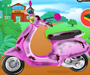 game Barbie School Bike Cleaning