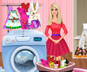 game Barbie Washing Clothes