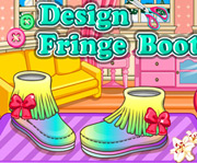game DIY Fringe Boots Design
