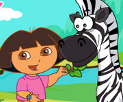 game Dora Care Baby Zebra