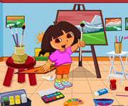 game Dora Drawing Room Cleaning
