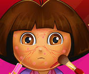 game Dora Face Infection