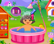 game Dora Fun Bathing