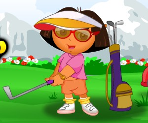 game Dora Golf Dress Up