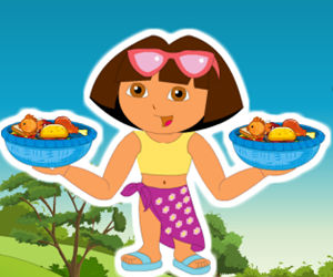 game Dora Messy Food