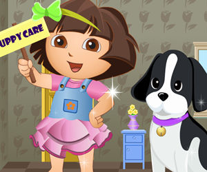 game Dora Puppy Care