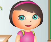 game Dora School Dress up