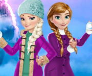 game Elsa and Anna Winter Fun