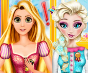 game Elsa And Rapunzel Cooking Disaster
