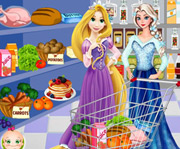 game Elsa And Rapunzel Shopping