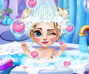 game Elsa Baby Bath Care