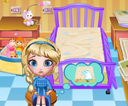game Elsa Bed Time