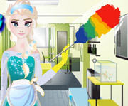 game Elsa House Cleaning