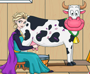 game Elsa Milking a Cow