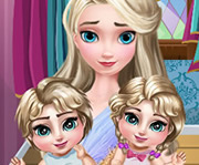 game Elsa Twins Care 2