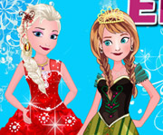 game Elsa With Anna Dressup