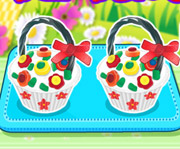 game Flower Basket Cupcake