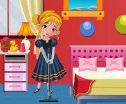 game Frozen Anna Bedroom Cleaning