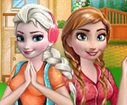 game Frozen Sisters Barbecue Party