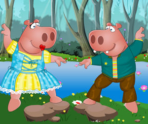 game Mr and Mrs Hippo Dress Up