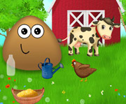 game Pou at the Farm