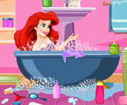 game Princess Ariel Bathroom Cleaning