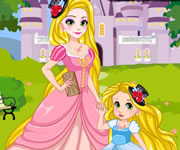 game Rapunzel and Daughter Matching Dress