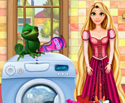 game Rapunzel Washing Clothes