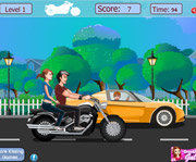 game Risky motorcycle Kissing