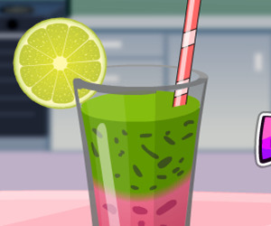 game Strawberry Kiwi Double Decker Smoothie