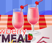 game Strawberry Oatmeal Smoothie
