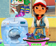 game Subway Surfers Washing Clothes