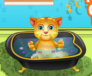 game Talking Ginger Bathing