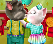 game Talking Tom and Angela Valentines Day Kissing