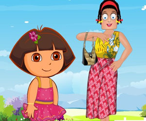 game Zoe With Dora Dress Up